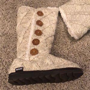 Muk Luks Shoes - MukLuks cream boots